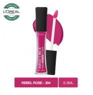 Son Kem Lì L'Oreal 304 Rebel Rose 6.3ml
