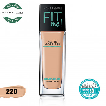 Kem Nền Mịn Lì Fit Me Maybelline 220 Natural Beige 30ml